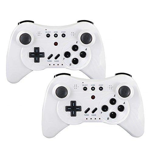 QUMOX 2 x Controller Game Controller Portable Wireless Bluetooth Gamepad for Nintendo Wii Console U, Bnalco