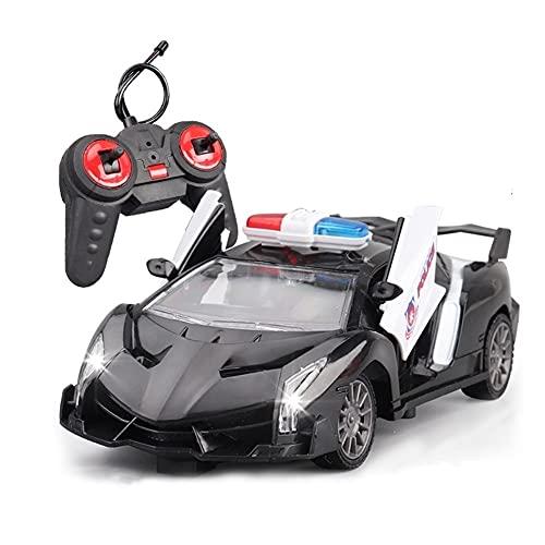 WANIYA1 Control Remoto Coche eléctrico Niños Toy Toy Remote Control Policía Control de Radio Policía Coche de Alta Velocidad RC Juguetes de Coche con Luces y Sirena Niños y Adultos Regalo de Juguete