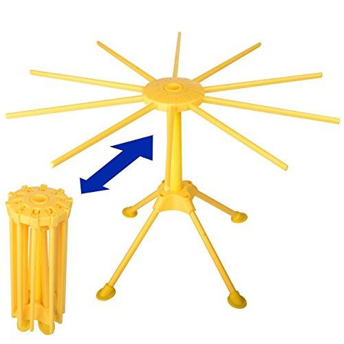 Homer pieghevole Stendipasta in macchina per la pasta e spaghetti con 10braccia safe-food grade ABS Plastic Matrial tagliatelle asciugatrice e supporto Yellow