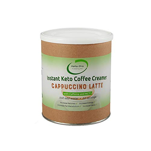 Keto Coffee Creamer   Instant Keto Coffee with MCT's   Supports Ketogenic Nutrition & Fasting   Boosts Energy, Focus & Metabolism   0.1g Carbs, Sugar Free   Cappuccino Latte 250g