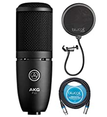 """CAPTURES CLEAR SOUNDS WITH HIGH PRECISION - The AKG P120 Microphone feature a 2/3"""" true condenser diaphragm with 24mV/Pa sensitivity. It delivers accurate sonic detail for home/studio recording of vocals and instruments. BLOCKS OFF AMBIENT SOUNDS - T..."""