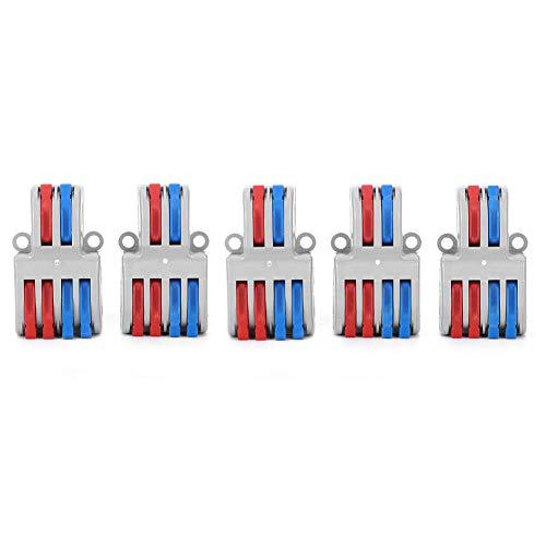 Conectores de cable eléctrico Tornillos sin conexión rápida 5 piezas Bloques de...
