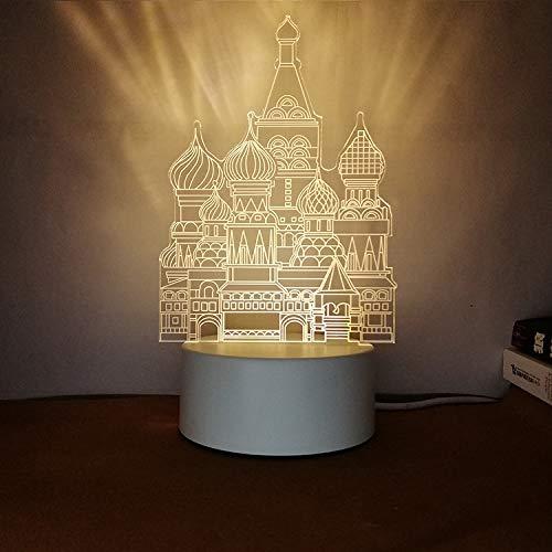 Kreatives Nachtlicht 3D dreidimensionale Beschriftung DIY Persönlichkeit Design Tischlampe Geschenk praktische sinnvolle Burg Tricolor 3W