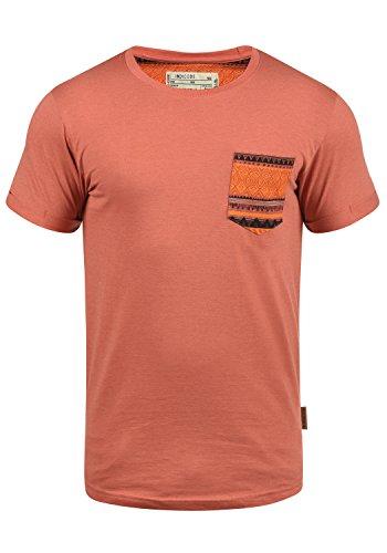 Indicode Paxton - Camiseta para Hombre, tamaño:XXL, Color:Camelian (139)
