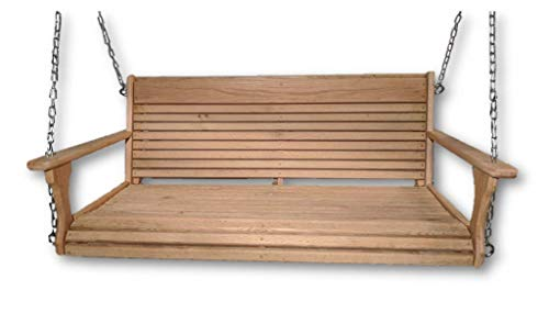Cypress Porch Swing/Larger Adults Swing/Wood Porch Swing/USA Made/Wooden Swing