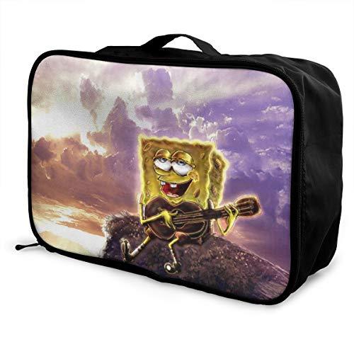 Spongebob Schwammkopf Gitarre Reisetasche, wasserdicht, modisch, leicht, große Kapazität, tragbar