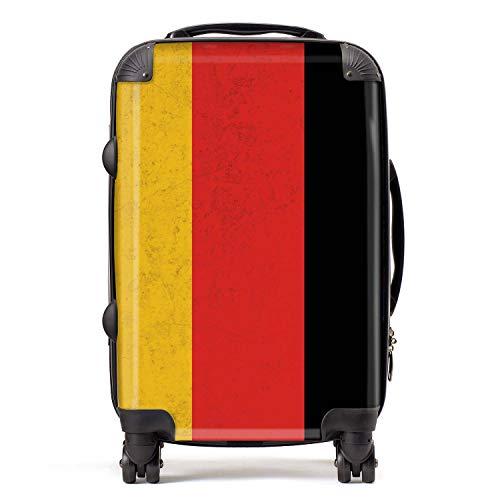Vlag Duitsland/Duitse vlag West-Europa koffer cabine met TSA Lock 4 wielen draaibaar bagage tas 58 cm 52 L