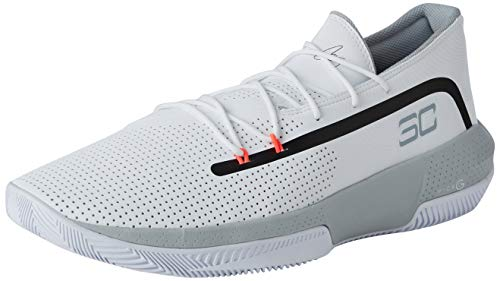 Under Armour Herren UA SC 3ZER0 III Basketballschuhe, Weiß (White/Mod Gray/Mod Gray (100) 100), 48 EU