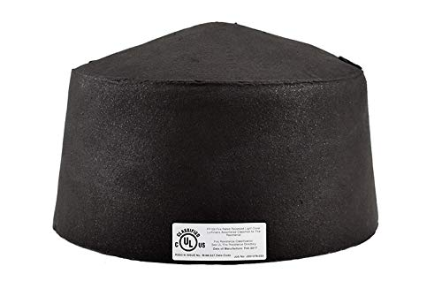 """FF109-350. 1 Hour UL Fire Rated Lighting Cover, Inside Height:11"""" Diameter:15"""""""