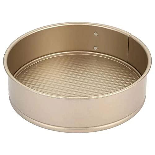 zyh Bandeja para Hornear Antiadherente - Accesorios de Cocina con Acabado Texturizado Bandeja para Pasteles Redonda Profunda de 9 Pulgadas de Acero al Carbono para Hornear (1 artículo)