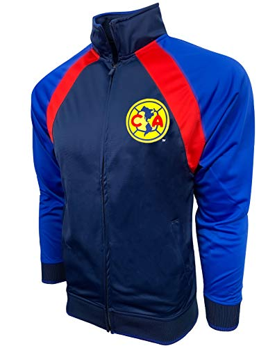 Rhinox Club America Jacket for Kids and Adults, Licensed America Track Jacket (X-Large)