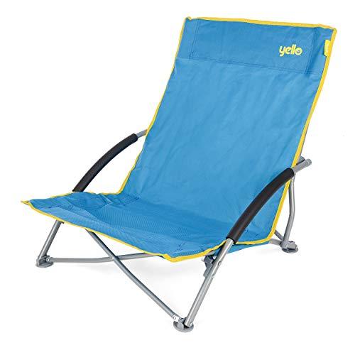 Yello Strand-Klappsessel, niedrig, Unisex, Low Beach, blau