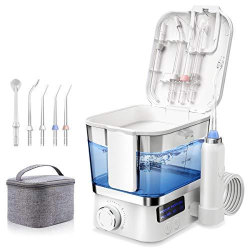 Water Dental Flosser for Teeth 600ML Water Pick Teeth Cleaner Water flossers for Teeth with 3 Modes amp 4 Jet TipsIPX7 WaterproofUSB Rechargeable 10 Stepless Adjustment Portable Oral Irrigator