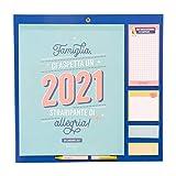 Mr. Wonderful Calendario familiar – Familia, nos espera un 2021 lleno de alegría.