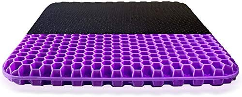Gel Seat Cushion Purple Enhanced Double Non Slip Seat Cushion for Tailbone Pain Relief Seat product image
