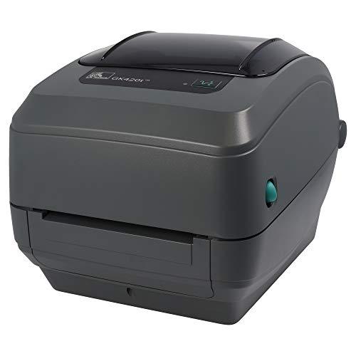 Zebra GK420t - Impresora de etiquetas (Térmica directa / transferencia térmica, 203 x 203 DPI, Alámbrico, 0.08 - 0.2, 0.003 - 0.0075, CODABAR (NW-7), EAN13, EAN8, Industrial 2/5, Interleaved 2/5, UPC-A, UPC-E)