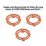 Anneau de blocage (plaque de retenue, support) pour têtes de rasage Philip, modèles/types SH70 et SH90/RQ12 (couleur orange). Rasoir Série S7000 S900