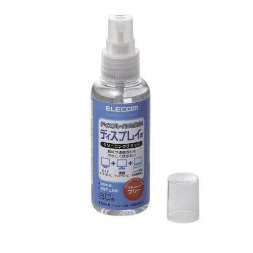 エレコム クリーニングリキッド ディスプレイ用 除菌 帯電防止効果 CK-DP60
