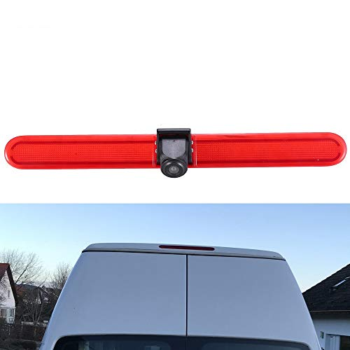 Rückfahrkamera Transporter mit Bremslicht Bremsleuchte, HD Nachtsicht Auto Rückfahrkamera für VW T5 Multivan Caravelle Hochdach/T6 mit Hochdach ab 2016/T5 Camper/Lupo 6Xj/Seat Arosa/Transporter Van