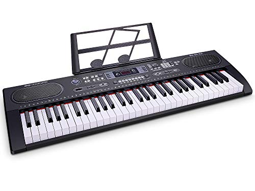 WOSTOO Piano Keyboard 61-Key Digital Electric Music- Portable Electronic Keyboard for Beginners Kids Adults with Piano Stand