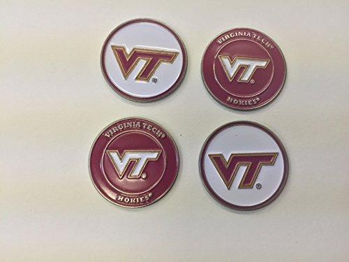 Lowest Price! (4) Virginia Tech Hokies Golf Ball Markers