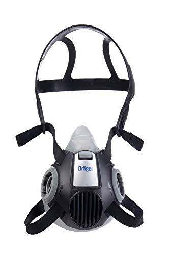 Dräger X-plore 3300 Halbmaske | Gr. L | Mehrweg Atemschutz-Maske für den Einsatz mit wechselbaren Bajonettfiltern