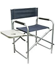 Chair for Camping and Trips with Side Table, Navy