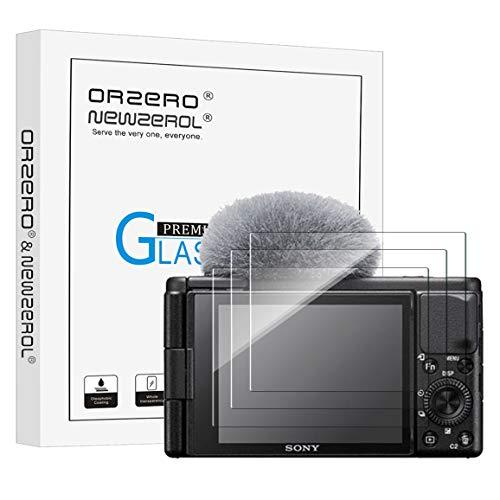 NEWZEROL 3 Stuck Bildschirmschutz fur Sony Vlog Kamera ZV 1 Kleinere Grose Gewolbte Kante 25D Bogenkanten Kratzfestigkeit 9 Harte Hochauflosendes gehartetes Glas Bildschirmschutz