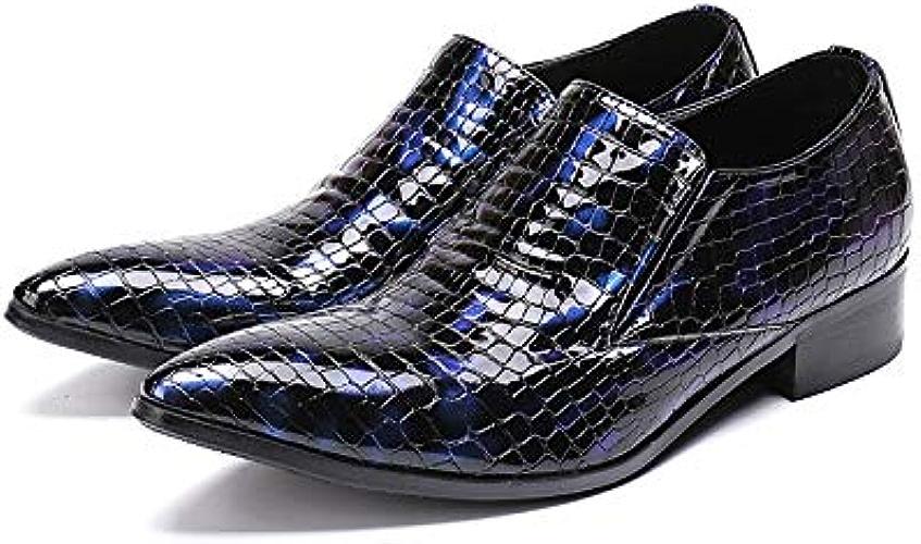 LOVDRAM Chaussures en Cuir pour Hommes Classique Hommes d'affaires Robe Pointu Toe Chaussures en Cuir Chaussures De Mariage Social Sapato Male Oxfords Appartements Bureau Chaussures