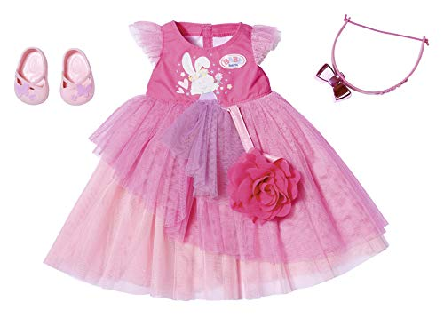 Zapf Creation 827178 BABY born Deluxe Ballkleid Puppenkleidung 43 cm, pink