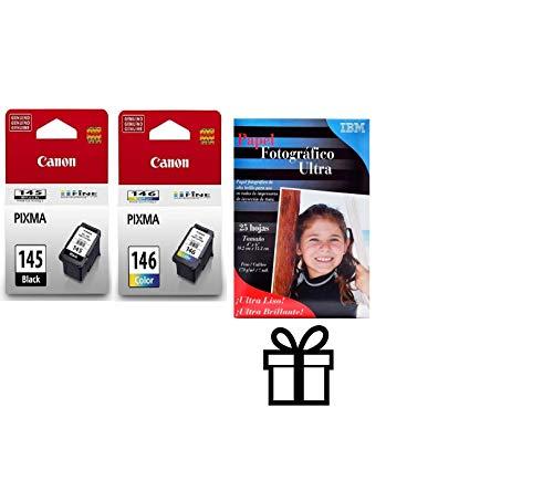 Canon PG-145BK CL-146 8275B001AA 8277B001AA iP2810 MG2410 MG2510 MG2910 - Juego de cartuchos de tinta (negro y color, 2 unidades)