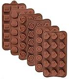 Leslady Silikon Schokoladenform, 6 Stück Silikonform...