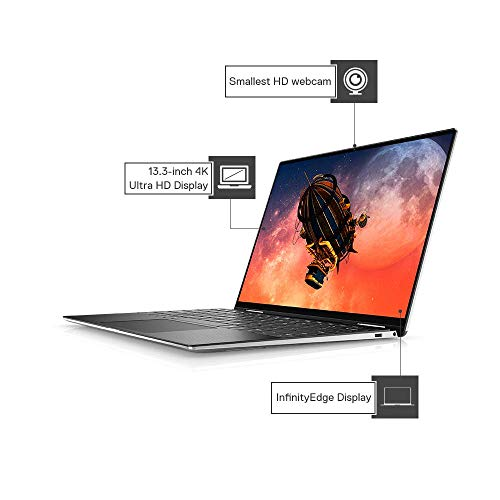 DELL XPS 7390 13.3-inch UHD Display Thin & Light Laptop (10th Gen Core i7-10510U/16GB/512GB SSD/Win 10 + MS Office/Integrated Graphics), Silver