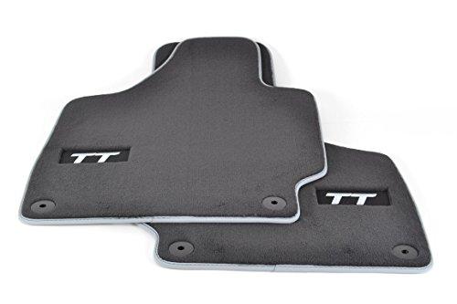 Audi 8J1 061 275 MNO 8J1061275MNO Premium Textilfußmatten Premium vorne schwarz/Silbergrau TT 2 Stück