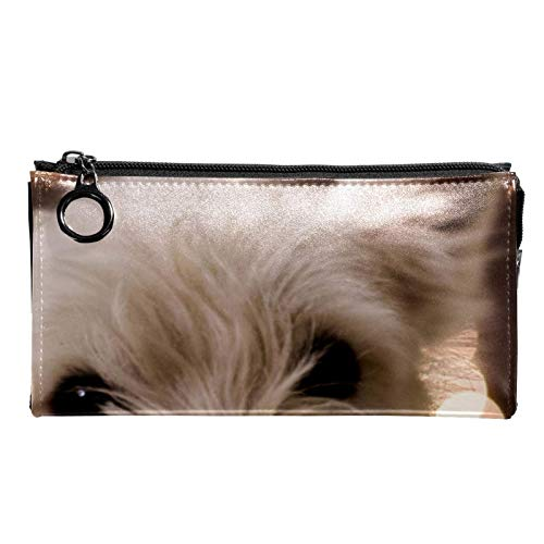 Neceser de Maquillaje Estuche Escolar para Cosméticos Bolsa de Aseo Grande Cachorro de Perro Blanco (1)