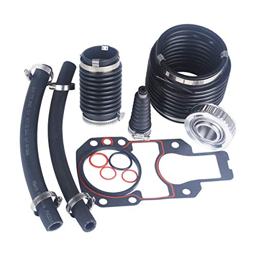 JINGYU Fits MerCruiser Alpha 1 Gen 1 R, MR and #1 Stern Drives 1973-1990 Transom Bellows Repair Reseal Kit Replaces 30-803097T1