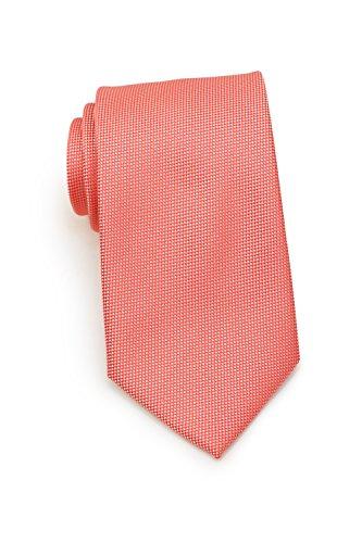 Puccini Krawatte mit Struktur, Einfarbig, Mikrofaser, 8 cm, Hochzeit – Alltag – Büro (Koralle)