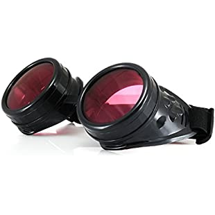 4sold Round Rave Novelty Cosplay Steampunk Goggles UK Ultra Premium Quality Steampunk Goggles Cyber Glasses Glasses Victorian Punk Style Welding Cosplay in a Gothic Style Goth Rustic Rivet Vintage:Tytoftetsi