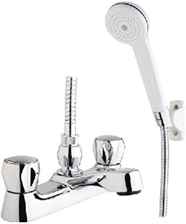 Bath Shower Mixer Bathroom Chrome Filler Tap Basin Modern Taps Set