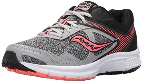 Saucony Women's Cohesion 10 Running Shoe, Grey Coral, 8 Medium US