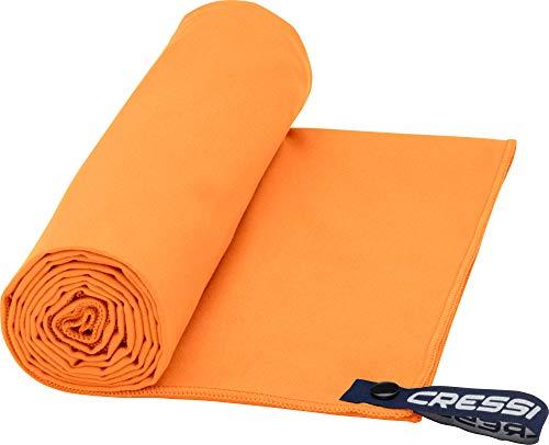 Cressi Microfibre Fast Drying Beach Toalla de Sport y de Playa, Unisex Adulto, Naranja,160 x 80 cm
