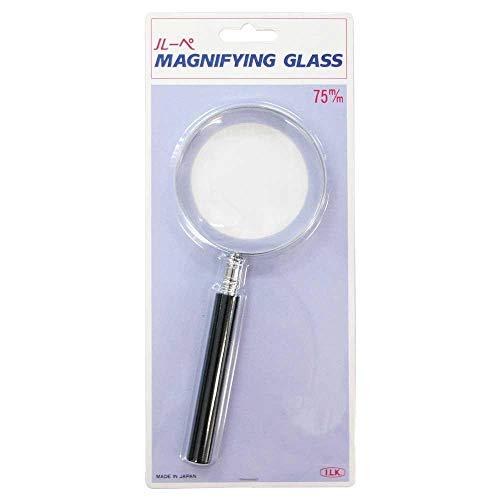 エボ柄ルーペ 1230-P 2倍&4倍 75mm プラスチックレンズ 手持ちルーペ 虫眼鏡 虫めがね 天眼鏡