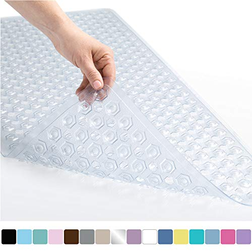 Gorilla Grip Original Patented Bath, Shower, Tub Mat, 35x16, Machine Washable, Antibacterial,...