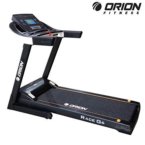 """Heimtrainer Fitnessgerät bis zuhause elektrisches Klappbar Laufband Orion Race G6, automatische Steigung auf 15 Ebenen, 7""""-Zoll-LCD-Computer, Höchstgeschwindigkeit 18 km/h, Motor 3.5 PS (4.5PS)"""