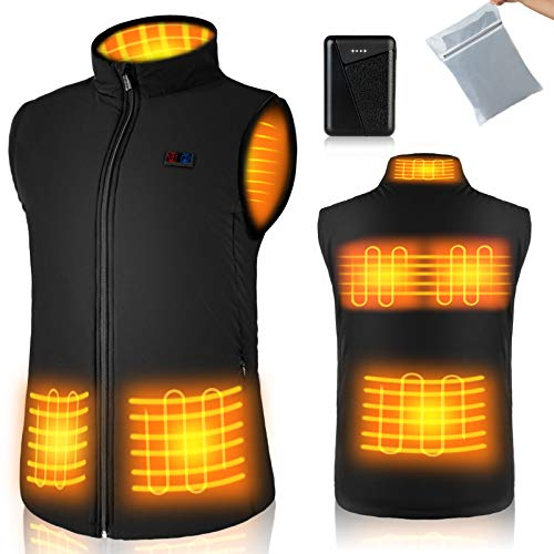 Heated Vest for Men Women - Heated Jacket with 10000mAh Battery Pack for Skiing, Fishing