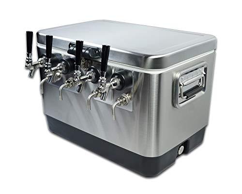 COLDBREAK 4 Tap Jockey Box, 54 quart SS Cooler