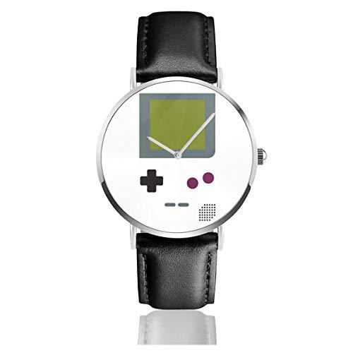 Unisex Business Casual Gameboy Hemd Uhren Quarz Leder Uhr mit schwarzem Lederband für Männer Frauen Young Collection Geschenk