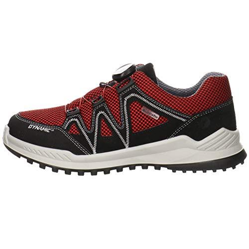 RICOSTA Kinder Low-Top Sneaker LEED, Weite: normal,wasserfest, Halbschuh strassenschuh Freizeit sportlich,schwarz,34 EU / 2 UK