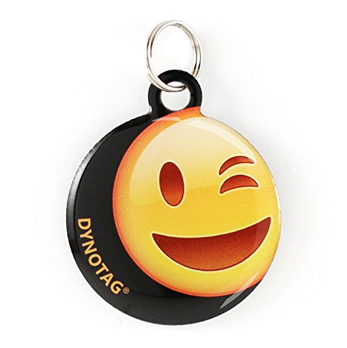 Dynotag Web Enabled Super Pet ID Smart Tag with DynoIQ & Lifetime Recovery Service. Play Series: Round (Wink)