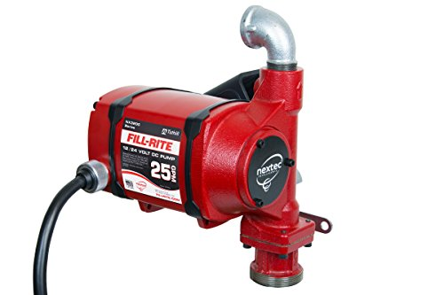 Fill-Rite Nextec Nx3210B 25 Gpm 12V/24V Continuous Duty Fuel Transfer Pump With Hose And Automatic Nozzle